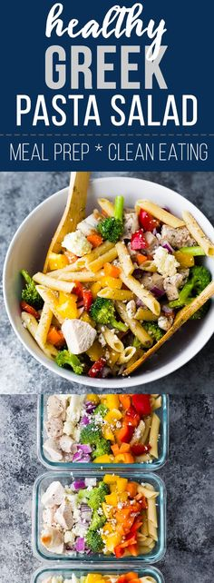 Healthy Greek Chicken Pasta Salad [Eliminate carrots and cheese. Use 0 cal dressing.]