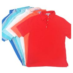 Coral to Royal, the Alexander Pima Cotton Jersey Polo in 11 colors http://www.strongboalt.com/shop/?category=Shirts #colorsofsummer #alexanderpolo #polos #menswear #pimacotton