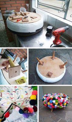 DIY: 14 Ideas de Proyectos DIY usando Pompones – Te regalo una idea #diy #pompom #ponpom #yarn