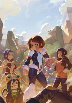 bokunoheroacademia, My Hero Academia, Ochaco Uraraka / Fight like a girl - pixiv My Hero Academia Shouto, Hero Academia Characters, Fictional Characters, Fanarts Anime, Manga Anime, Cartoon As Anime, Anime Stuff, Badass Anime, Deku Anime