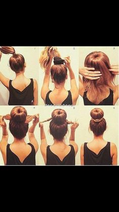 Love this easy hair style!
