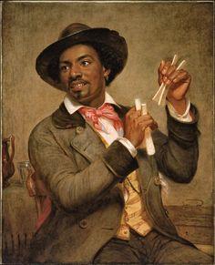 William Sidney Mount - The Bone Player (1856)