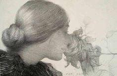 by Edmond Francois Aman-Jean (French 1858 - 1936)
