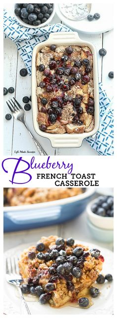 Blueberry French Toast Casserole Toast makes the best make-ahead breakfast with only 10 minutes of prep. Perfect when you have overnight guests. Blueberry French Toast Casserole, French Toast Bake, Breakfast Casserole, Breakfast Bake, Breakfast Items, Breakfast Dishes, Breakfast Recipes, Loan Cash, Brunch Recipes