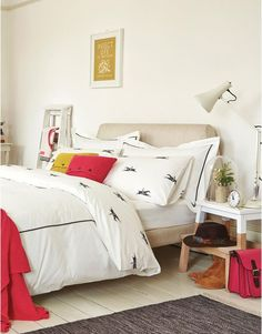 Joules Pony Race Reversible Duvet Cover in 100% Cotton in Cream Horse Print