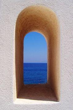 Windows and Doors of Greece Window View, Through The Window, Canvas Paper, Doorway, Business Design, Windows And Doors, Beautiful World, Greece, Canvas Art