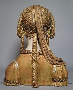 Reliquary Bust of a Female Saint  Date: ca. 1520–30    Her dress laces up the back!