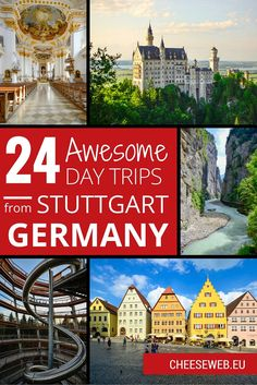 We share our top 24 ultimate day trips from Stuttgart, Germany, filled with picturesque villages, food, castles, nature, and family travel fun.