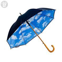 Designer Umbrella with Perfect Day Sky Print Inside (*Amazon Partner-Link)