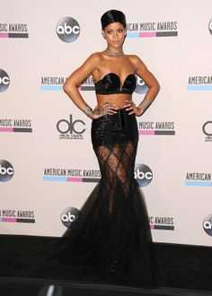 2013 Red Carpet Fashion Awards Rihanna with the wrap