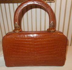 Stunning vintage French 1940's Alligator handbag in super condition by VintageHandbagDreams on Etsy
