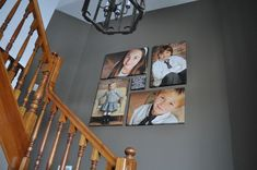 great use of those tall stair walls