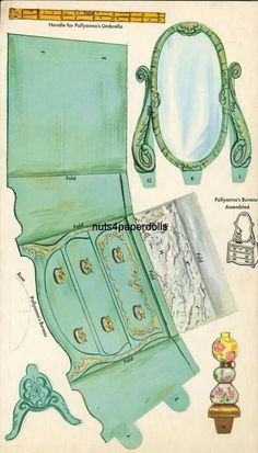 Pollyanna from 1960 - Bobe Green - Picasa Web Albums 08 Paper Furniture, Barbie Furniture, Dollhouse Furniture, Bedroom Furniture, Paper Doll House, Paper Houses, 3d Paper, Paper Toys, Diy And Crafts
