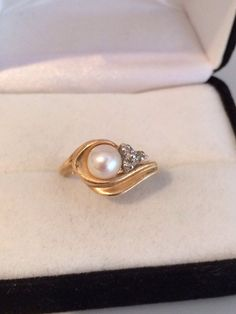 Lovely 14K Fine Solid Gold Solitaire Genuine by HauteCoutureLaLa
