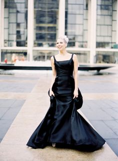 Black wedding gown designed by Angel Sanchez!