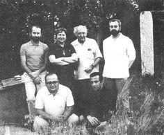 En Madrid, J.M. Caballero Bonald, Gloria Fuertes, Gabriel Celaya, Ángel González, José A. Goytisolo y Manuel Vázquez Montalbán (1969).