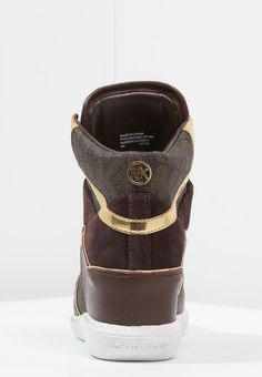 MICHAEL Michael Kors NIKKO - Sneakers hoog - brown - Zalando.nl