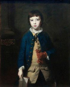 SIR JOSHUA REYNOLDS, P.R.A. Portrait of George Greville, later 2nd Earl of Warwick (1746-1816), aged 8