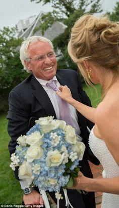 Cheryl greets Bobby Jr's oldest brother Joe as rain begins to fall at the wedding. Joseph ...
