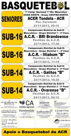 ACR: Basquetebol > 23 e 24 Novembro 2013 #ValeDeCambra #basquetebol