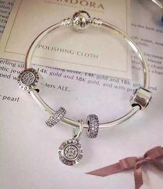 50% OFF!!! $159 Pandora Bangle Charm Bracelet Silver. Hot Sale!!! SKU: CB01687 - PANDORA Bracelet Ideas
