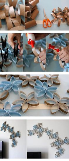 used paper toilet rolls turn into great decorations!