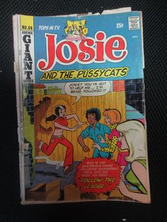 Vintage 1972 Josie And The Pussycats Comic Book No. 66 Issue Archie Giant Series $0.25 (shows wear) $10.00