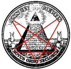 Satanic Symbols And Meanings   Here we see the reversed and distorted pentagram on the 'Great Seal ...