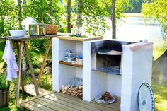 10 Interesting Outdoor Kitchens That Will Make You Say WoW Outside Sink, Pantry Inspiration, Pergola, Interior Decorating Tips, Bbq Area, Summer Kitchen, Outdoor Living, Outdoor Decor, Outdoor Areas