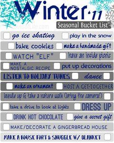 winter bucket list from lovesoflife.com