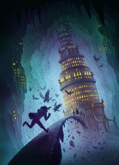 Gabriel Finley and the Raven's Riddle, Petur Antonsson on ArtStation at https://www.artstation.com/artwork/3wQAY