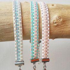 Nieuw patroon #armbandjes #weef #weefarmband #golfjes #lente #zomer…