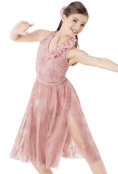 Weissman™   Embroidered Halter Dress with Leotard