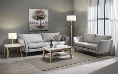3:n ja 2:n istuttava Kaarna-sohva. #sohva #couch #scandinaviandesign #suomalaistakäsityötä #sisustusinspiraatio #sisustussuunnittelu #finsoffat Table, Furniture, Home Decor, Decoration Home, Room Decor, Tables, Home Furnishings, Home Interior Design, Desk