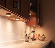 Under Kitchen Cabinet Lighting Ideas - Puck Light