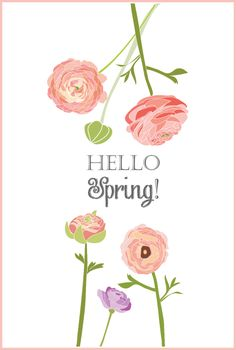 Original Free Printable ready for instant download. Print and frame to welcome spring! | On Sutton Place