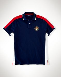 Custom-Fit Patch Polo Shirt - Custom Fit Polo Shirts - Ralph Lauren UK f4608bb1e9e