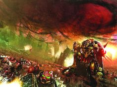 Tales of Heresy, Book 10 in the Heresy.  No Tagline, but Angron is damning a planet....so.....damn....