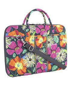 e0643cf54a89 Look at this  zulilyfind! Jazzy Blooms Laptop Portfolio  zulilyfinds Vera  Bradley Laptop Bag