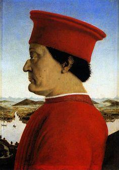 Piero della Francesca - Retrato de Retrato de Federico da Montefeltro (Quattrocento)