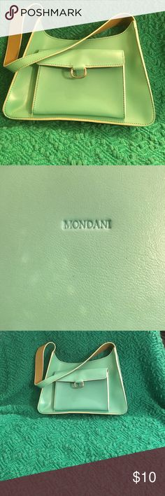 Beautiful Leather  Mint Green  Purse by Mondani NW/O T bag has dust cover. Very pretty. Mondani Bags Shoulder Bags