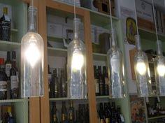 Iluminação - candeeiros a partir de garrafas