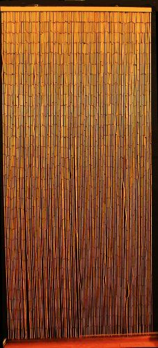 Bamboo Beaded Curtain Hawaiian Tropical Decor Natural Door Way Doorway Room Divider 90 Strands NT/BB-07