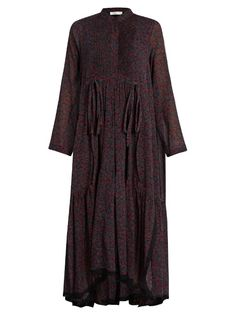 CHLOÉ Cherry-print cotton and silk-blend crepon dress. #chloé #cloth #dress
