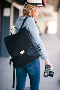 Jo Totes Bellbrook Camera and Laptop Backpack, Black Backpack Outfit, Camera Backpack, Laptop Backpack, Black Backpack, Backpack Bags, Fashion Backpack, Camera Gear, Photo Backpack, Chic Backpack