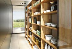 open shelving (linee Küche aus Naturholz | TEAM 7)