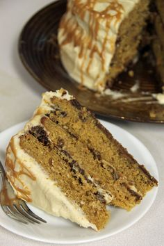 Mom's b-day cake?? Pumpkin Gingersnap Cake with Salted Caramel Frosting, Jo and Sue blog