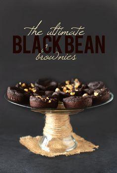 The Ultimate Fudgy Black Bean Brownies vegan gluten free no flour needed and seem pretty easy and simple Gluten Free Desserts, Vegan Gluten Free, Healthy Desserts, Dairy Free, Gluten Free Recipes, Healthy Meals, Vegan Brownie, Brownie Recipes, Healthy Brownies