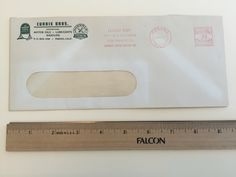 """Item: fc_19570624_4 Advertising cover approx. 4""""x 9 ½"""" (window envelope) Condition: very good, yellowing due to age and some minor crease  Currie Bros. Distributors Motor Oil Lubricants Gasoline P.O. Box 1048 Fresno, Calif.  Quaker State Motor Oil (logo) Norwalk Premium Streamline Gasoline (logo)  Postage Meter: FRESNO JUN 24'57 CALIF. U.S. POSTAGE AMOUNT .03 PAID P.B. METER 77975 Slogan Cancel: LUCKY DAY FOR YOUR CAR WHEN YOU CHANGE TO QUAKER STATE MOTOR OIL"""