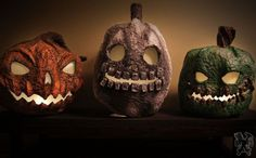 how to make paper clay jack o lanterns for halloween, halloween decorations, how to, outdoor living, seasonal holiday decor
